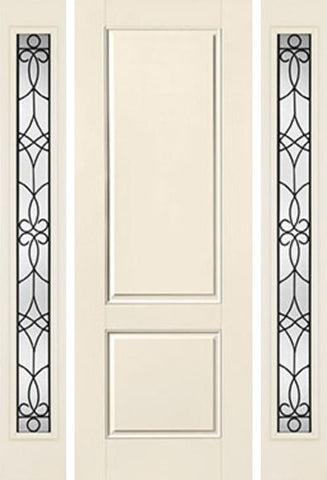 WDMA 58x96 Door (4ft10in by 8ft) Exterior Smooth 8ft 2 Panel Square Top Star Door 2 Sides Salinas Full Lite Flush 1