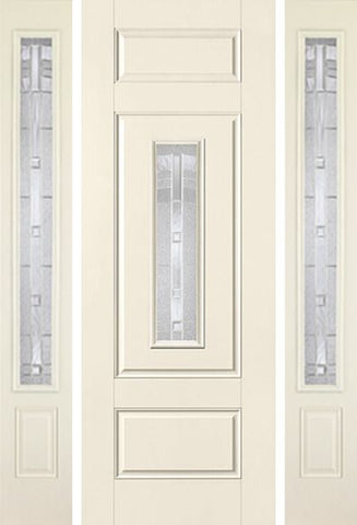 WDMA 58x96 Door (4ft10in by 8ft) Exterior Smooth MaplePark 8ft Center Lite 3 Panel Star Door 2 Sides 1