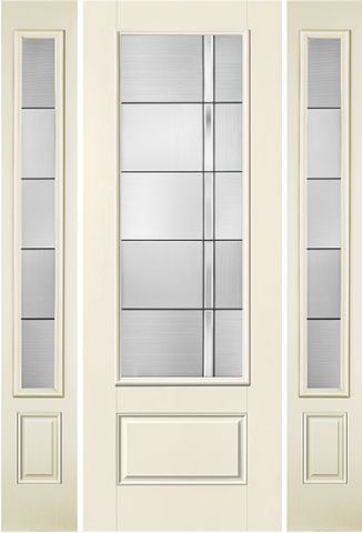 WDMA 58x96 Door (4ft10in by 8ft) Exterior Smooth Axis 8ft 3/4 Lite 1 Panel Star Door 2 sides 1