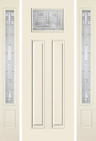 WDMA 58x96 Door (4ft10in by 8ft) Exterior Smooth MaplePark 8ft Craftsman Lite 2 Panel Star Door 2 Sides 1