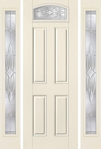 WDMA 58x96 Door (4ft10in by 8ft) Exterior Smooth Wellesley 8ft Camber Top Lite 4 Panel Star Door 2 Sides 1
