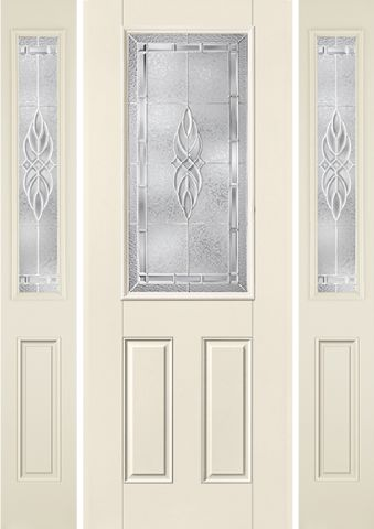 WDMA 58x96 Door (4ft10in by 8ft) Exterior Smooth KensingtonTM 8ft Half Lite 2 Panel Star Door 2 sides 1