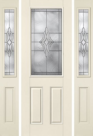 WDMA 58x96 Door (4ft10in by 8ft) Exterior Smooth Wellesley 8ft Half Lite 2 Panel Star Door 2 Sides 1