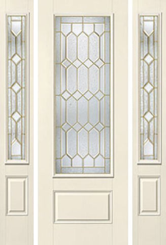 WDMA 58x96 Door (4ft10in by 8ft) Exterior Smooth Crystalline 8ft 3/4 Lite 1 Panel Star Door 2 Sides 1