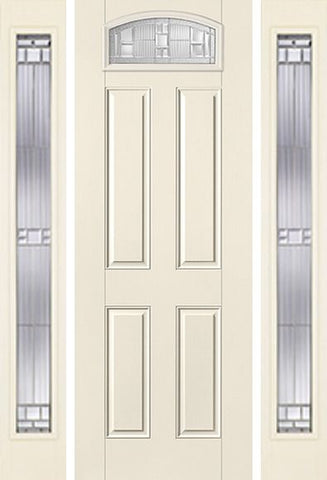 WDMA 58x96 Door (4ft10in by 8ft) Exterior Smooth SaratogaTM 8ft Camber Top Lite 4 Panel Star Door 2 Sides 1