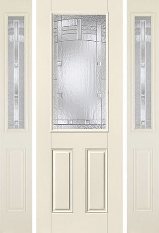 WDMA 58x96 Door (4ft10in by 8ft) Exterior Smooth MaplePark 8ft Half Lite 2 Panel Star Door 2 Sides 1