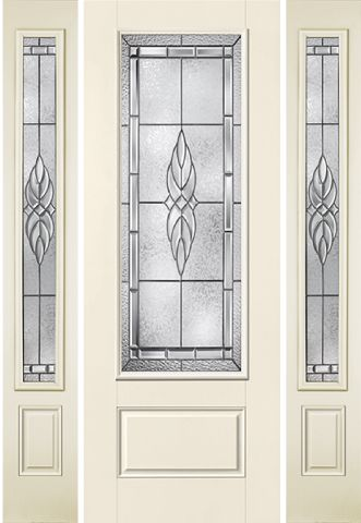 WDMA 58x96 Door (4ft10in by 8ft) Exterior Smooth KensingtonTM 8ft 3/4 Lite 1 Panel Star Door 2 sides 1