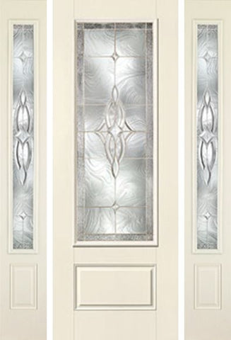 WDMA 58x96 Door (4ft10in by 8ft) Exterior Smooth Wellesley 8ft 3/4 Lite 1 Panel Star Door 2 Sides 1