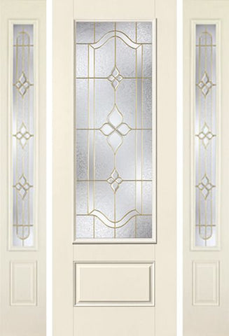 WDMA 58x96 Door (4ft10in by 8ft) Exterior Smooth Concorde 8ft 3/4 Lite 1 Panel Star Door 2 Sides 1