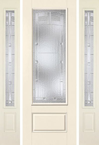 WDMA 58x96 Door (4ft10in by 8ft) Exterior Smooth MaplePark 8ft 3/4 Lite 1 Panel Star Door 2 Sides 1