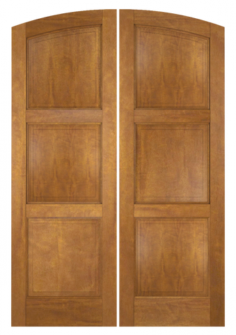 WDMA 60x80 Door (5ft by 6ft8in) Interior Swing Mahogany 3 Panel Arch Top Solid Exterior or Double Door 1