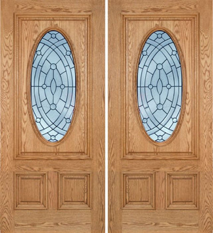 WDMA 60x80 Door (5ft by 6ft8in) Exterior Oak Watson Double Door w/ EE Glass 1