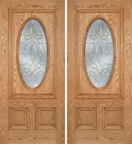 WDMA 60x80 Door (5ft by 6ft8in) Exterior Oak Watson Double Door w/ CO Glass 1