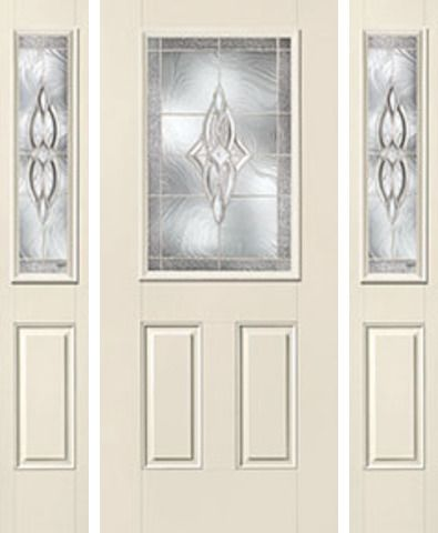 WDMA 60x80 Door (5ft by 6ft8in) Exterior Smooth Wellesley Half Lite 2 Panel Star Door 2 Sides 1