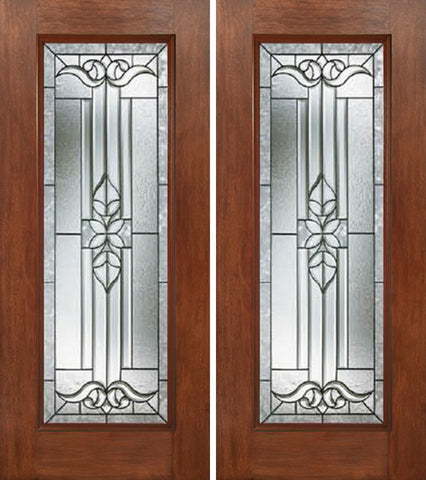 WDMA 60x80 Door (5ft by 6ft8in) Exterior Mahogany Full Lite Double Entry Door CD Glass 1