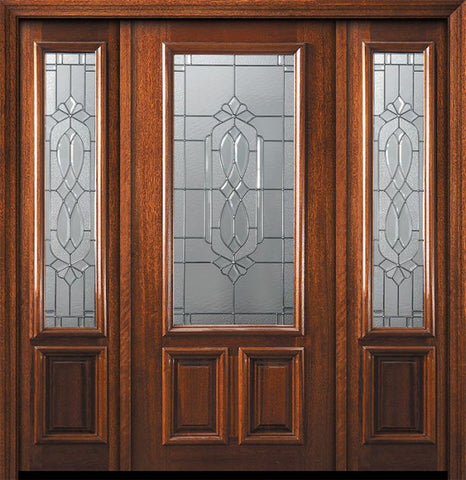 WDMA 60x80 Door (5ft by 6ft8in) Exterior Mahogany 36in x 80in 2/3 Lite Kensington Door /2side 1