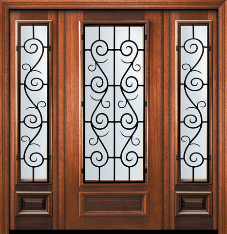 WDMA 60x80 Door (5ft by 6ft8in) Exterior Mahogany 80in 3/4 Lite St. Charles Door /2side 1