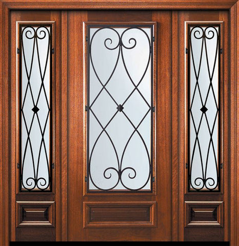 WDMA 60x80 Door (5ft by 6ft8in) Exterior Mahogany 80in 3/4 Lite Charleston Door /2side 1