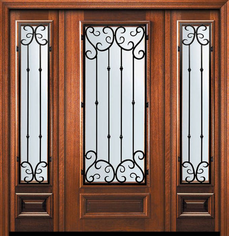 WDMA 60x80 Door (5ft by 6ft8in) Exterior Mahogany 80in 3/4 Lite Valencia Door /2side 1