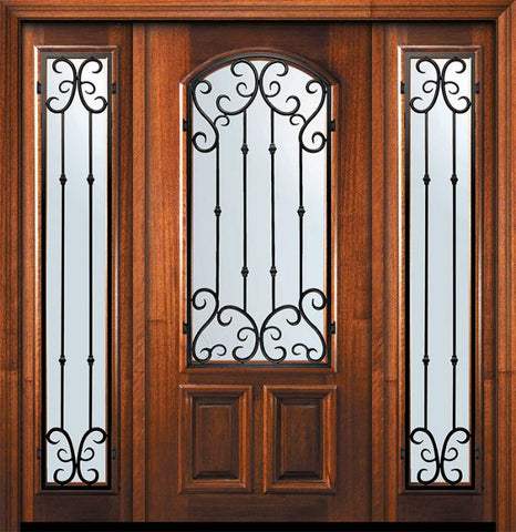 WDMA 60x80 Door (5ft by 6ft8in) Exterior Mahogany 80in Arch Lite Valencia Door /2side 1