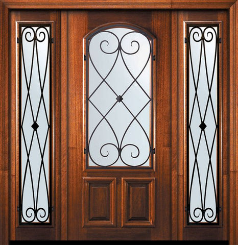WDMA 60x80 Door (5ft by 6ft8in) Exterior Mahogany 80in Arch Lite Charleston Door /2side 1