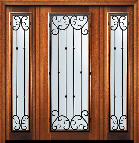 WDMA 60x80 Door (5ft by 6ft8in) Exterior Mahogany 80in Full Lite Valencia Door /2side 1