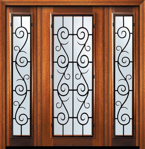 WDMA 60x80 Door (5ft by 6ft8in) Exterior Mahogany 80in Full Lite St. Charles Door /2side 1