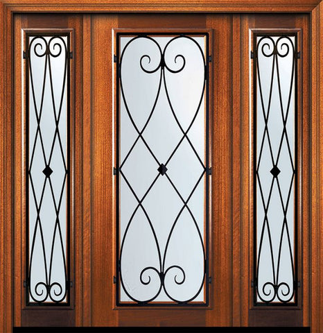 WDMA 60x80 Door (5ft by 6ft8in) Exterior Mahogany 80in Full Lite Charleston Door /2side 1
