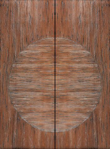 WDMA 60x96 Door (5ft by 8ft) Exterior Mahogany Japanese Style Hand Carved Double Door 1
