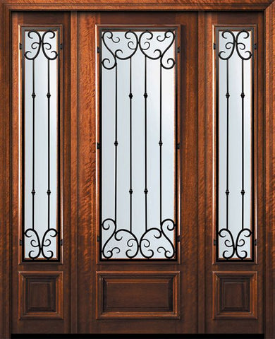 WDMA 60x96 Door (5ft by 8ft) Exterior Mahogany 96in 3/4 Lite Valencia Door /2side 1