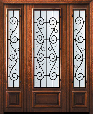 WDMA 60x96 Door (5ft by 8ft) Exterior Mahogany 96in 3/4 Lite St. Charles Door /2side 1