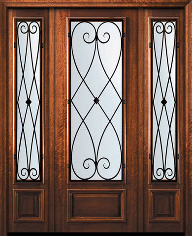 WDMA 60x96 Door (5ft by 8ft) Exterior Mahogany 96in 3/4 Lite Charleston Door /2side 1