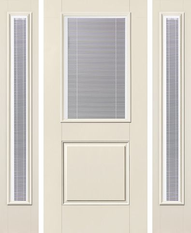 WDMA 62x80 Door (5ft2in by 6ft8in) Exterior Smooth Raise/Tilt Half Lite 1 Panel Star Door 2 Sides 1