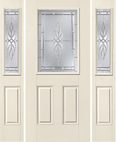 WDMA 62x80 Door (5ft2in by 6ft8in) Exterior Smooth KensingtonTM Half Lite 2 Panel Star Door 2 sides 1