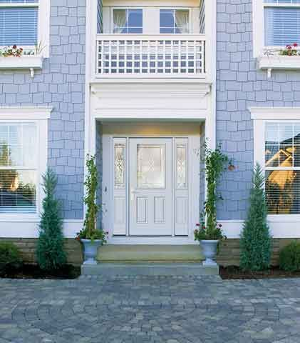 WDMA 62x80 Door (5ft2in by 6ft8in) Exterior Smooth KensingtonTM Half Lite 2 Panel Star Door 2 sides 2