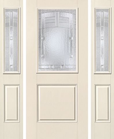 WDMA 62x80 Door (5ft2in by 6ft8in) Exterior Smooth MaplePark Half Lite 1 Panel Star Door 2 Sides 1