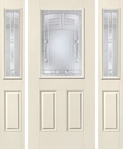 WDMA 62x80 Door (5ft2in by 6ft8in) Exterior Smooth MaplePark Half Lite 2 Panel Star Door 2 Sides 1