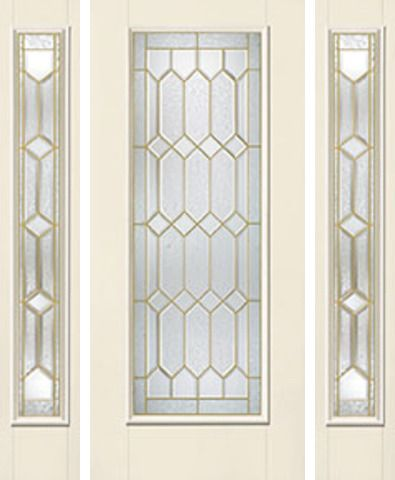 WDMA 62x80 Door (5ft2in by 6ft8in) Exterior Smooth CrystallineTM Full Lite W/ Stile Lines Star Door 2 Sides 1