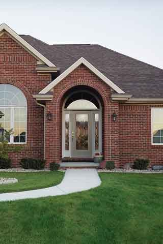 WDMA 62x80 Door (5ft2in by 6ft8in) Exterior Smooth CrystallineTM Full Lite W/ Stile Lines Star Door 2 Sides 3