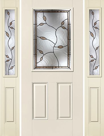 WDMA 62x80 Door (5ft2in by 6ft8in) Exterior Smooth Avonlea Half Lite 2 Panel Star Door 2 Sides 1