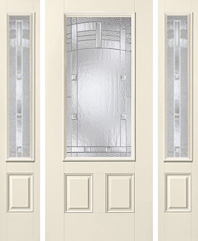 WDMA 62x80 Door (5ft2in by 6ft8in) Exterior Smooth MaplePark 3/4 Lite 2 Panel Star Door 2 Sides 1