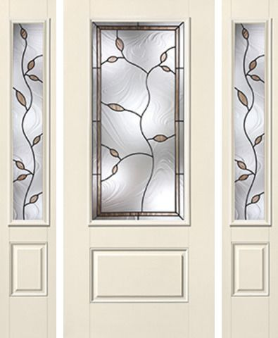 WDMA 62x80 Door (5ft2in by 6ft8in) Exterior Smooth Avonlea 3/4 Lite 1 Panel Star Door 2 Sides 1