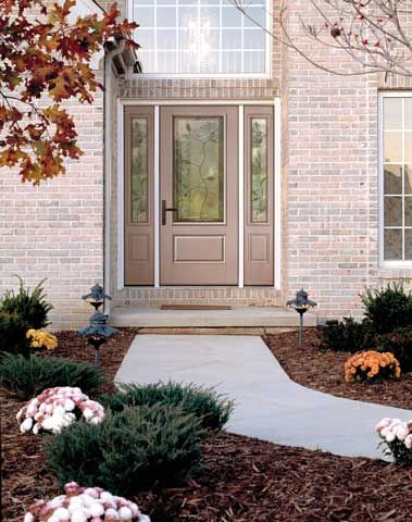 WDMA 62x80 Door (5ft2in by 6ft8in) Exterior Smooth Avonlea 3/4 Lite 1 Panel Star Door 2 Sides 2