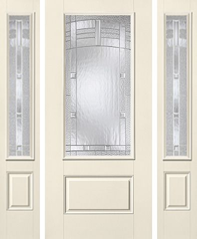 WDMA 62x80 Door (5ft2in by 6ft8in) Exterior Smooth MaplePark 3/4 Lite 1 Panel Star Door 2 Sides 1