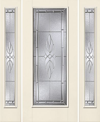 WDMA 62x80 Door (5ft2in by 6ft8in) Exterior Smooth KensingtonTM Full Lite W/ Stile Lines Star Door 2 sides 1