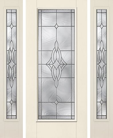WDMA 62x80 Door (5ft2in by 6ft8in) Exterior Smooth Wellesley Full Lite W/ Stile Lines Star Door 2 Sides 1