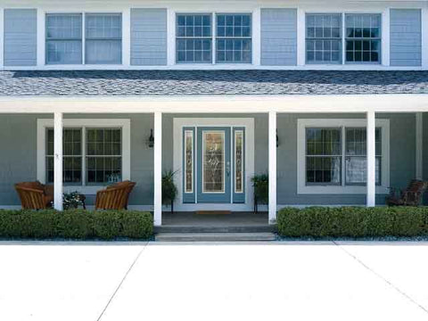 WDMA 62x80 Door (5ft2in by 6ft8in) Exterior Smooth Wellesley Full Lite W/ Stile Lines Star Door 2 Sides 2