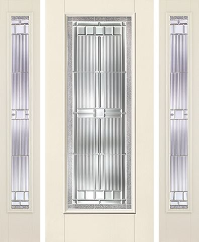 WDMA 62x80 Door (5ft2in by 6ft8in) Exterior Smooth SaratogaTM Full Lite W/ Stile Lines Star Door 2 Sides 1