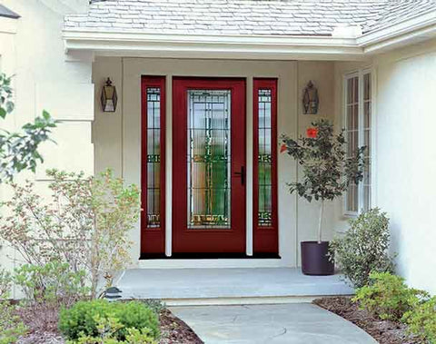 WDMA 62x80 Door (5ft2in by 6ft8in) Exterior Smooth SaratogaTM Full Lite W/ Stile Lines Star Door 2 Sides 2