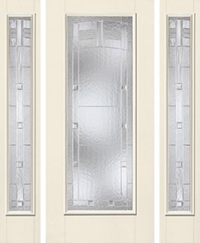 WDMA 62x80 Door (5ft2in by 6ft8in) Exterior Smooth MaplePark Full Lite W/ Stile Lines Star Door 2 Sides 1